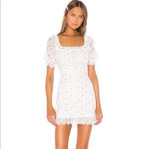 FOR LOVE & LEMONS Brulee Daisy Mini Dress in Daisy